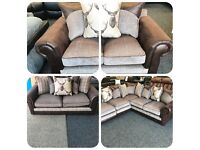 BRAND NEW NEXT FABRIC SOFA 3 STR+2 STR OR CORNER SOFA AVAILABLE - QUICK SALE WANTED!