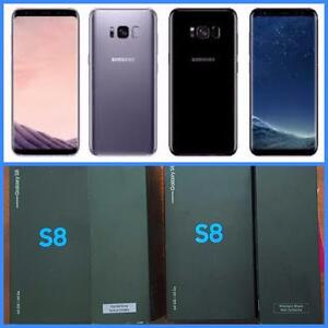 Brand New in Box Samsung Galaxy S8/S8+PlusMidnight Black Unlocked!!**WIND/Freedom/Rogers/Bell/Telus/Fido/Koodo/VirginWe