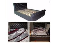 King Size Faux Leather Bedframe. 5ft x 6ft 6