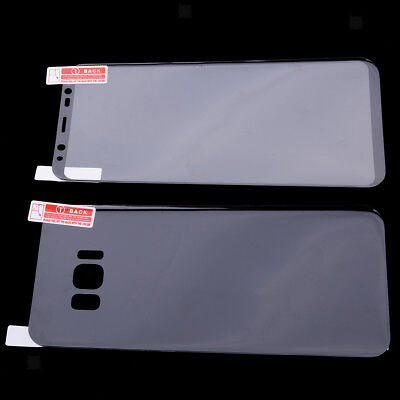 Black Pet Screen - For Samsung Galaxy S8 Plus Front and Back Case HD PET Screen Protector Film