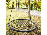 Leisure Zone Children Kids Nest Disc Swing seat/Tree Spider Net Swing Play Fun kid's Toy BRAND NEW