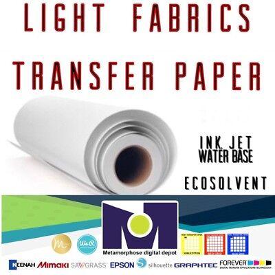 Roll Of Light Fabrics Ink-jet Heat Transfer Paper 24x50