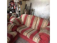 3+1+1 sofa an arm chairs