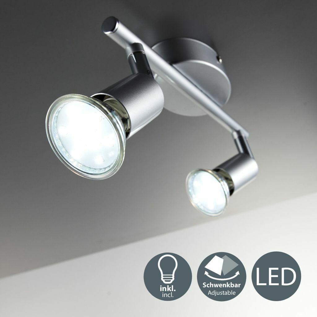 LED Decken-Leuchte Lampe 6W Spot-Strahler 2-flammig Wandlampe Wohnzimmer 2x GU10
