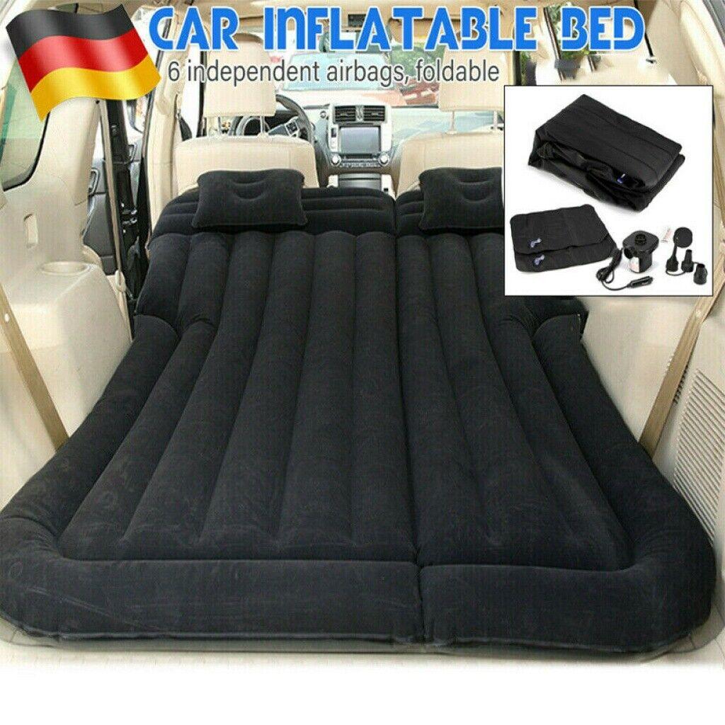 Aufblasbar Luftmatratze Auto Luftbett für KFZ Reisematratze Bett mit Luftpumpe