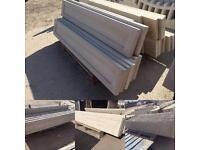 Concrete gravel/kick boards / fencing / plinths