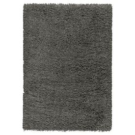 IKEA large high pile grey rug