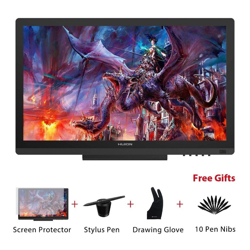 huion kamvas gt 191 graphics drawing tablet monitor with 8192 levels