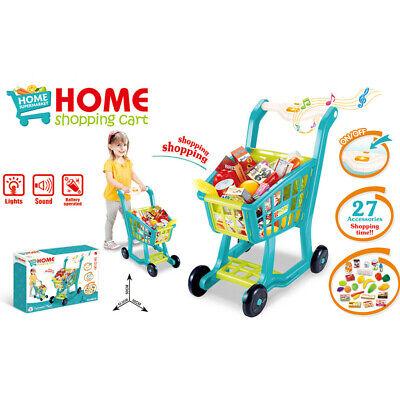 Pretending Shopping Cart SuperMarket Toy Groceries For Kids Children Best