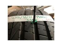 295/35/21 Pirelli pzero part worn tyre
