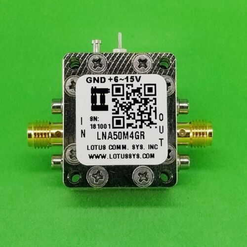 Broadband Low Noise Amplifier 0.8dB NF 50MHz to 4GHz 18dB Gain with LDO
