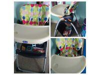 Chicco feeding chair / highchair with storage basket