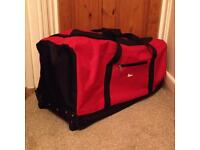 Large Red travel holdall