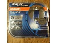H4 12v cool blue bulbs