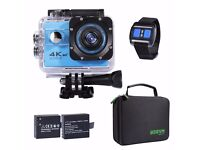 Underwater Camera 4K Action WIFI Diving 30M Waterproof With 2.4G Remote Control And 2PCS Battery