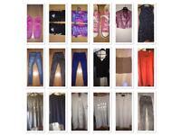 Bundle of women's & men's clothes & shoes.