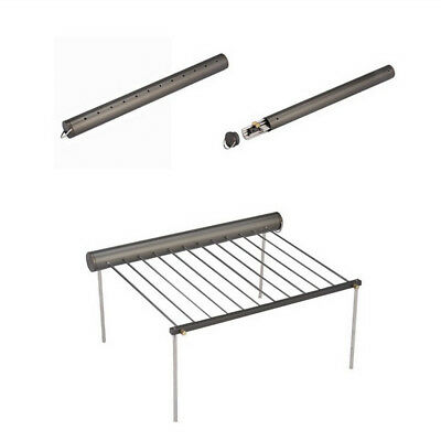 Portable Detachable Steel BBQ Barbecue Grill Tray Support Stand Camping Hiking