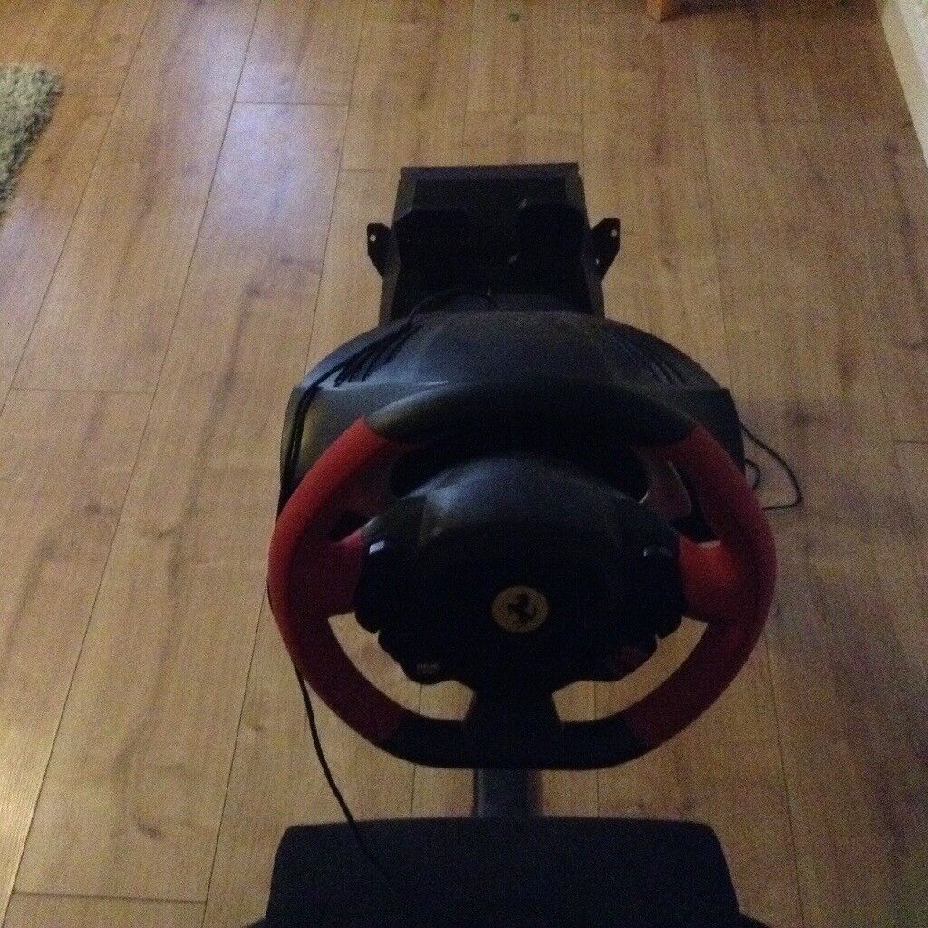 Racing Chair with Xbox One wheel and pedals. Inc Forza Motorsport 5 and 7and WRC 6.