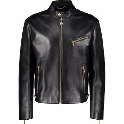 VERSACE mainline black Leather jacket IT50 UK/US40 RRP4200GBP New Auth