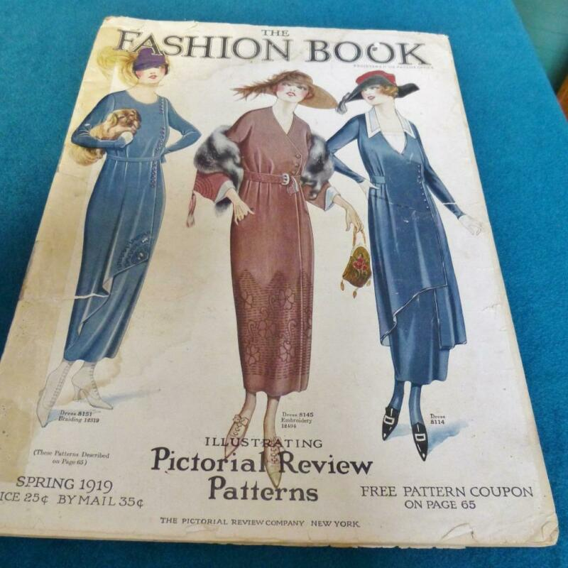 1919 Spring Fashion Book Pictorial Review Sewing Patterns Catalog