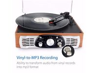 3-Speed Stereo Turntable Vinyl to MP3 Recording
