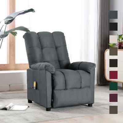 vidaXL Massagesessel Stoff Relaxsessel Fernsehsessel mehrere Auswahl