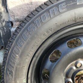 Spare wheel Ford Fiesta 175/65/R14 82T with Bridgestone tyre- unused