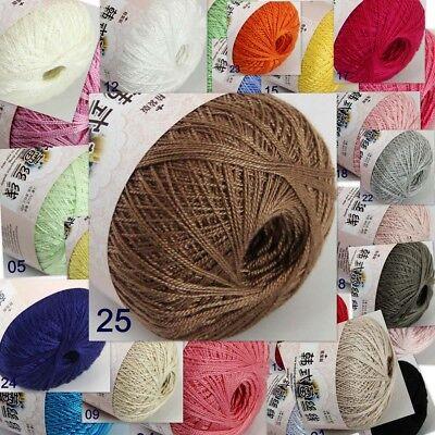 Cotton Yarn Crochet Thread (Thread No.8 Cotton Crochet Yarn Craft Tatting Hand Knit Embroidery 50grX1Ball  )