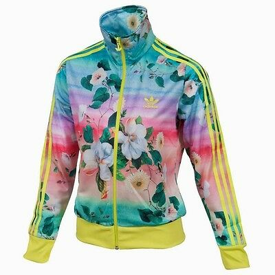 (FLORALINA FLORAL NEW ADIDAS WOMEN FIREBIRD FARM TRACK TOP JACKET)