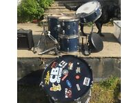 CB Drum Kit complete, blue, road worn