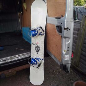 SNOW BOARD/Wild ducks, Tracks snowboard, little scratches but looks good and works well!