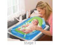 Sparkle and splash 3 Stages baby Bath tub With Sling