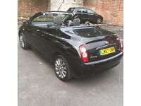 CHEAP Convertible Black Nissan Micra C+C 1.6 2dr 2008 Plate