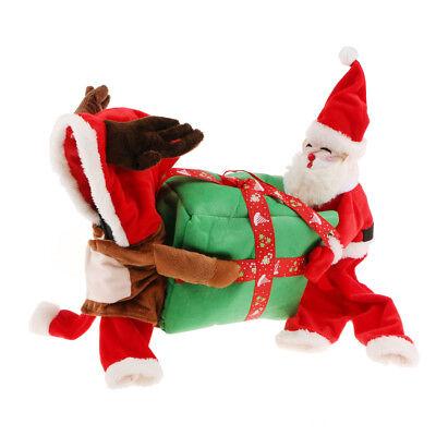 Haustier Weihnachten Deer Rollen Kleidung Hund Cosplay Kostüm Mantel Hoodie