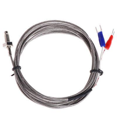 Thread M6 Screw Probe Temperature Sensor Thermocouple K Type Cable 2m 0-600