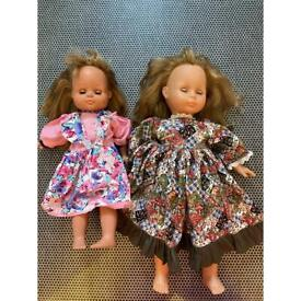 Beautiful vintage toddler dolls, 1980s