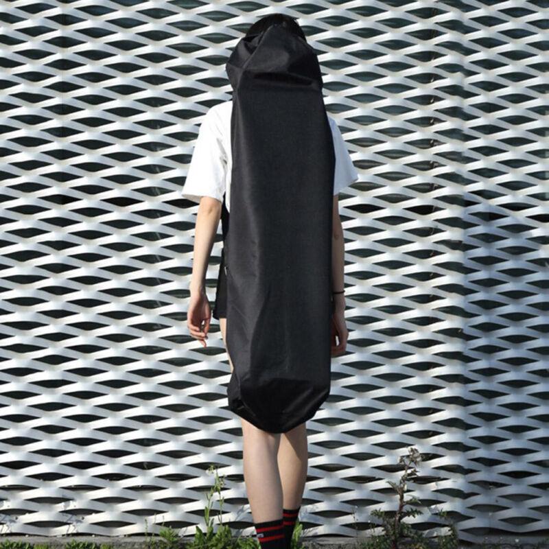 118x40cm Black Portable Waterproof Longboard Backpack Skateboard Carry Bag