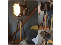 Industrial Style Tripod Drum Light