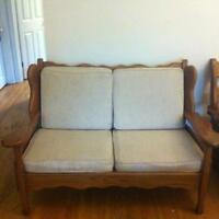 Solid Wood Couch Set- 4 piece close to McMaster