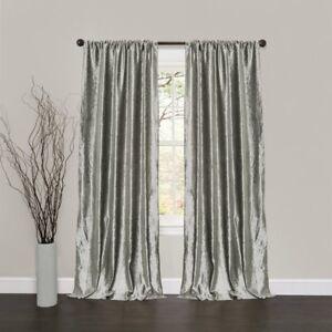 Lush Decor Velvet Dream Window Curtain Panels 84 By 40 Inch Silver Set Of 2