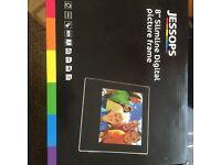 "Jessops 8"" Slimline digital photo frame- Never Used"