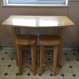 Breakfast Bar Table And Two Stools