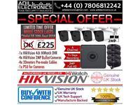 Hikvision 4 Cameras 2MP Turbo-HD Full CCTV Kit