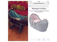 Claire de lune Noah pod unisex pink blue Moses basket bassinet baby bed crib cradle