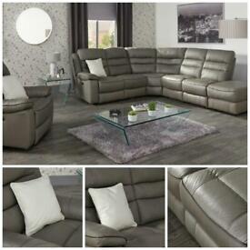 Large grey corner suite