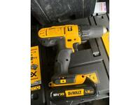 Brand new dewalt comi drill xr + 2 1.5ah batteries and charger