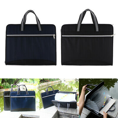 Expanding File Folders Accordion A4 Waterproof Document Storage Holder Case