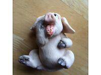 Piggin sick pig ornament