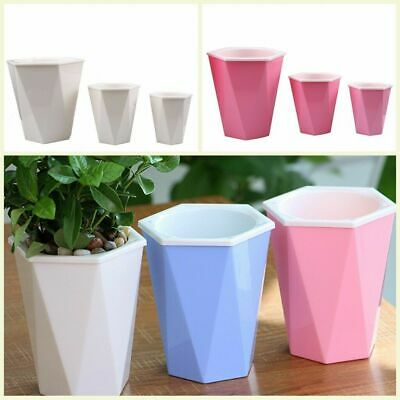 3 Color Self-Watering Flower Plant Pot Plastic Auto Flowerpot Planter Basket