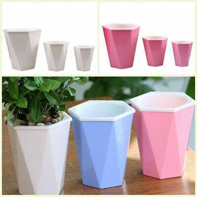 3 Color Self-Watering Flower Plant Pot Plastic Auto Flowerpo